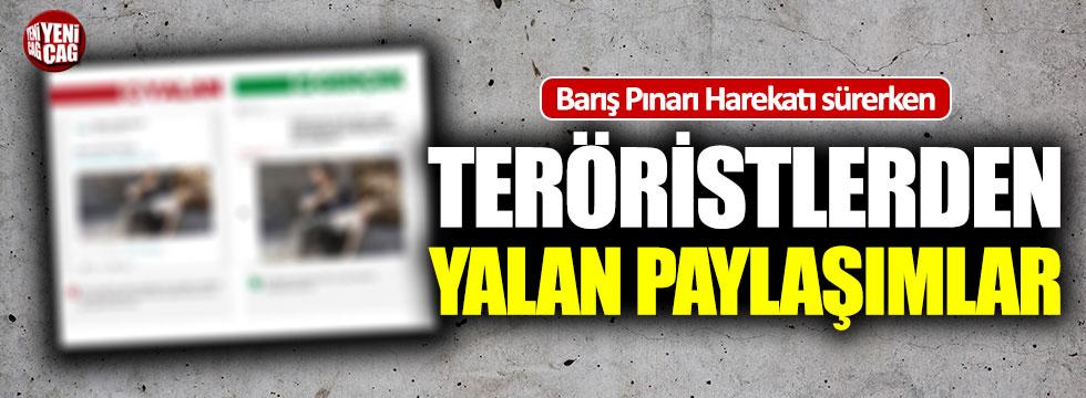 Barış Pınarı Harekatı sürerken teröristlerden skandal paylaşımlar