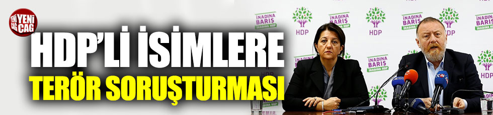 HDP'li vekillere Barış Pınarı soruşturması
