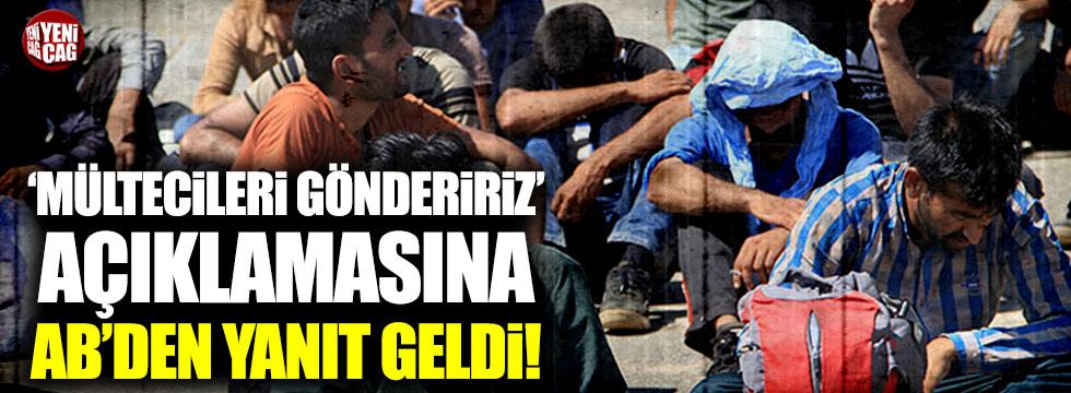 AB'den Erdoğan'ın Suriyelilerle ilgili sözlerine yanıt