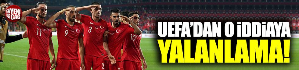 UEFA'dan 'asker selamına soruşturma' iddialarına yalanlama