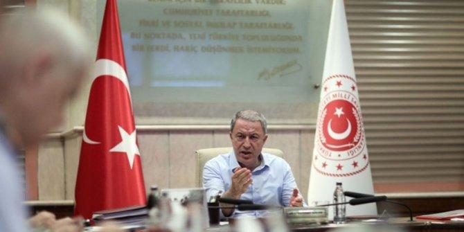 MSB'de, Barış Pınarı Harekâtı toplantısı