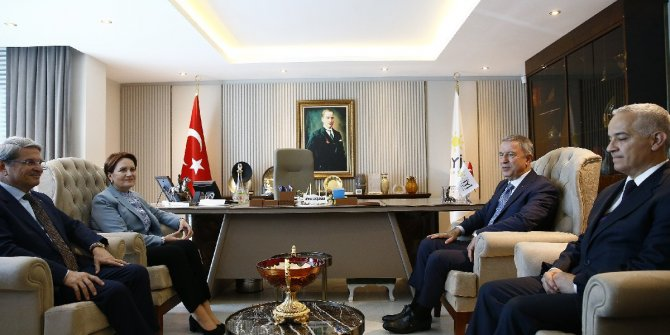 Milli Savunma Bakanı Akar, Akşener'e ziyaret etti