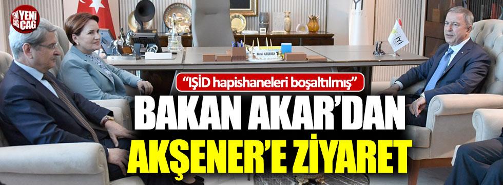 Milli Savunma Bakanı Akar, Akşener'i ziyaret etti
