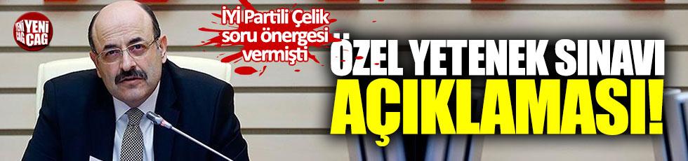 YÖK Başkanı Saraç'tan özel yetenek sınavıyla ilgili açıklama