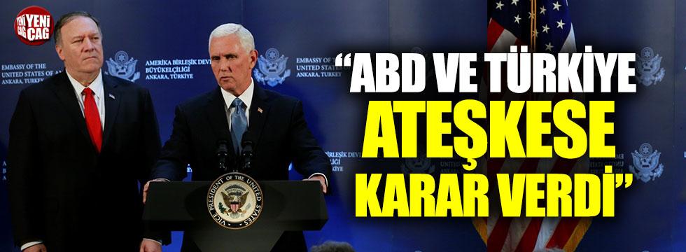 """Pence: """"ABD ve Türkiye Suriye'de ateşkese karar verdi"""""""