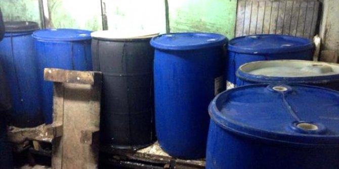 Tekirdağ'da 1 ton kaçak içki ele geçirildi