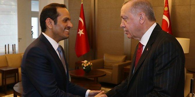 Erdoğan, Katar Başbakan Yardımcısı ile görüştü