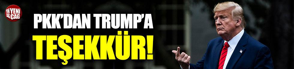 Terör örgütü PKK'dan ABD Başkanı Trump'a teşekkür