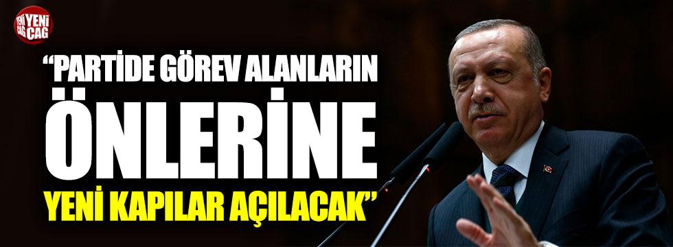 """Erdoğan: """"Partide görev alanların önlerine yeni kapılar açılacak"""""""