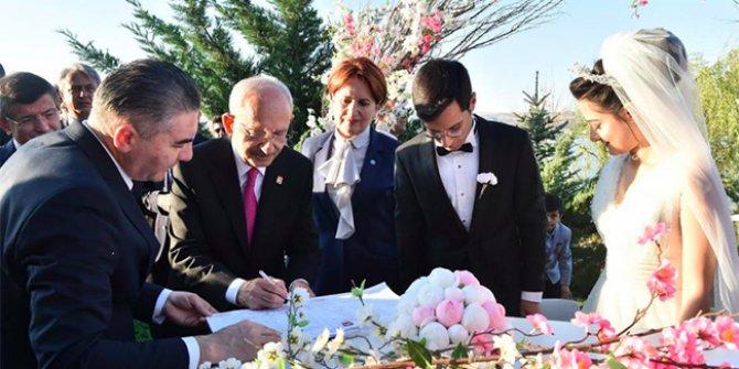 Akşener ve Kılıçdaroğlu nikah şahitliği yaptı!