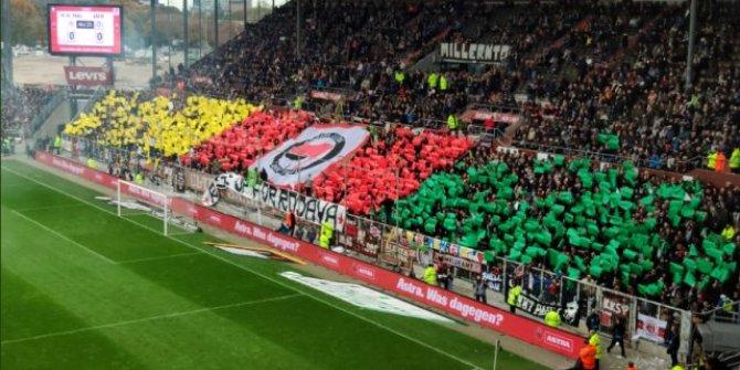 St. Pauli taraftarlarından skandal pankart!