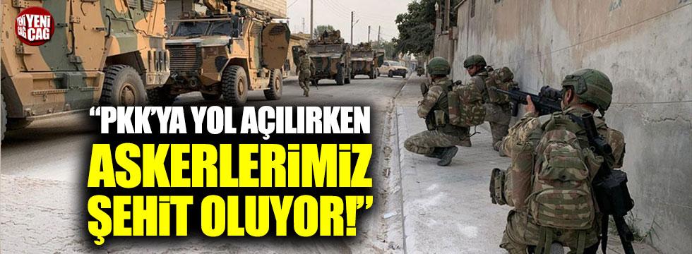 PKK'ya yol açılırken askerlerimiz şehit düşüyor