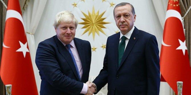 Erdoğan, Johson ile görüştü