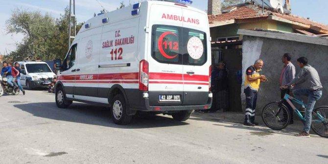 Konya'da komşular birbirine girdi