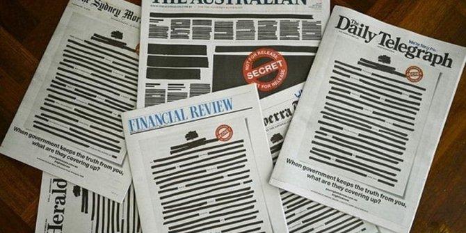 Avustralya'da gazeteler bu şekilde basıldı!