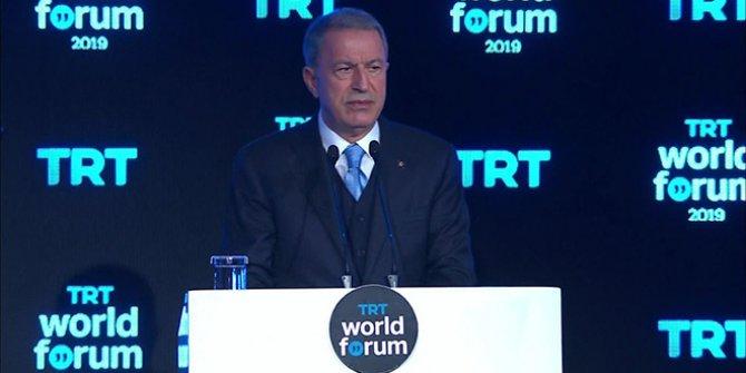 """Bakan Akar: """"Taahhütlere uyulursa Barış Pınarı Harekâtı durdurulacaktır"""""""