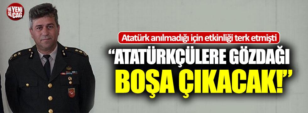 """Albay İrevül: """"Atatürkçülere gözdağı boşa çıkacak"""""""