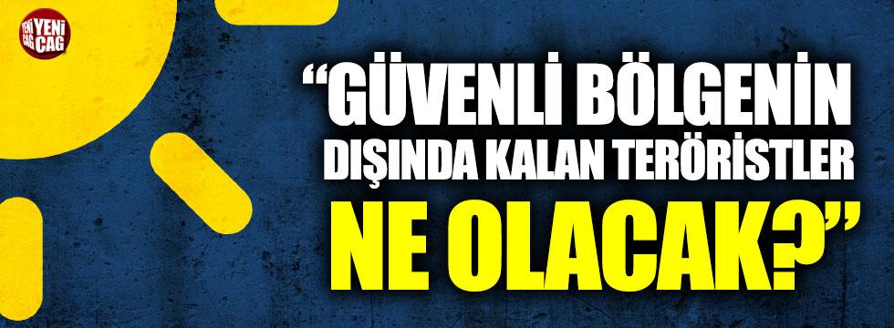 """Ağıralioğlu: """"Güvenli bölgenin dışında kalan teröristler ne olacak?"""""""