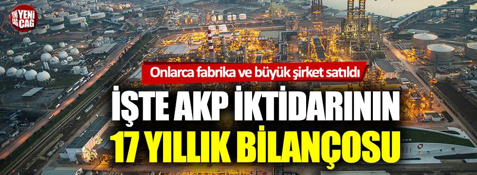 İşte AKP iktidarının 17 yıllık bilançosu
