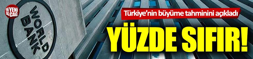 Dünya Bankası'ndan Türkiye büyüme tahmini