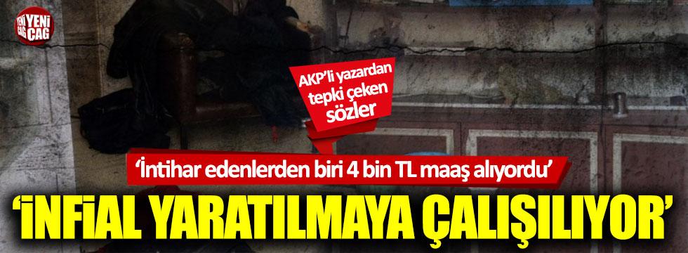 """AKP'li Sabah yazarı Dilek Güngör: """"İntihar edenlerden biri 4 bin TL maaş alıyordu"""""""