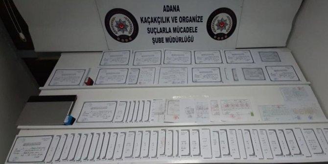 Adana'da sahte diploma operasyonu