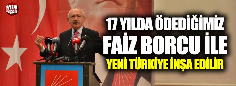 """""""17 yılda ödenilen faiz ile yeni Türkiye inşa edersiniz"""""""