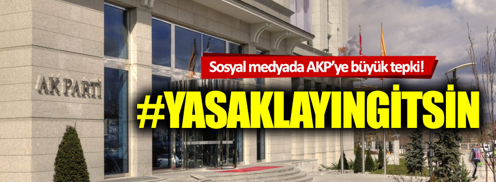Sosyal medyada AKP'ye büyük tepki!