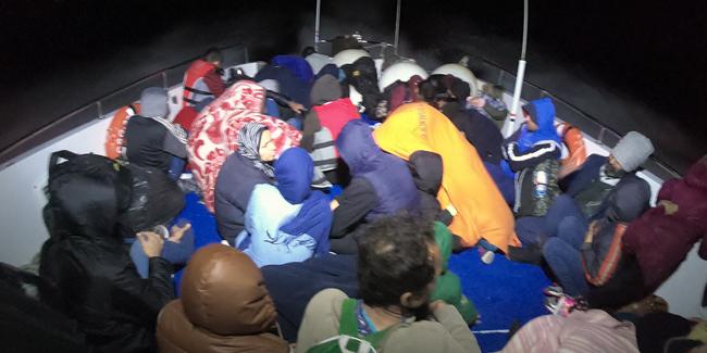 40'ı çocuk, 84 kaçak göçmen yakalandı
