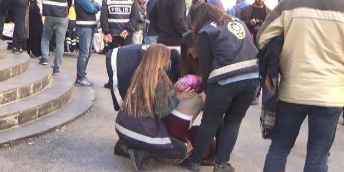 HDP önündeki eylemde gerginlik