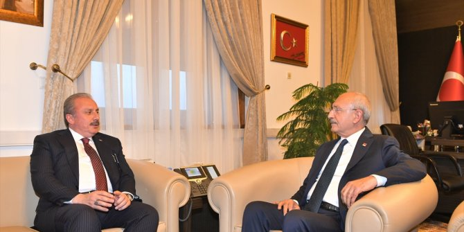 TBMM Başkanı Şentop'tan Kemal Kılıçdaroğu'na ziyaret