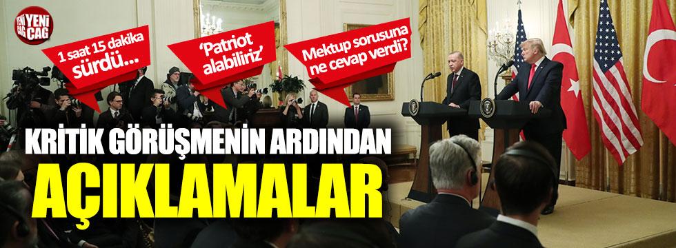 Erdoğan ve Trump'tan ortak basın açıklaması