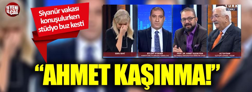 Habertürk canlı yayınında ilginç anlar: Ahmet kaşınma!