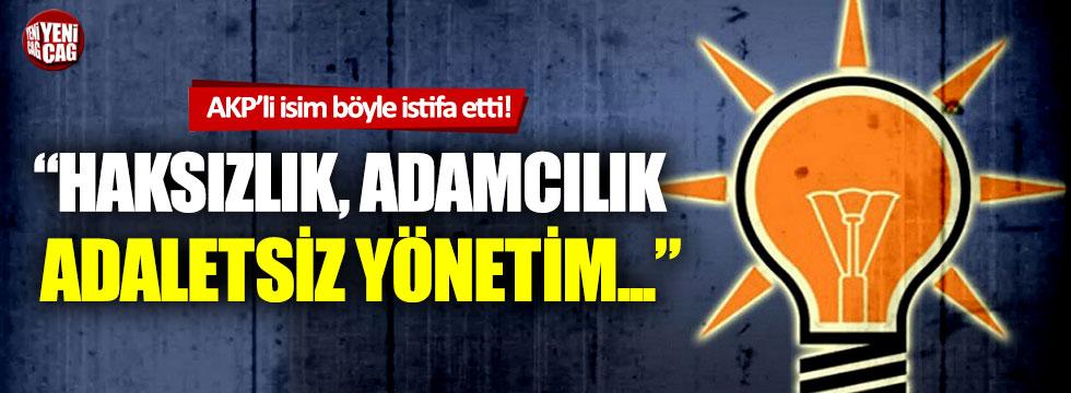 AKP Muş İl Başkan Yardımcısı istifa etti!