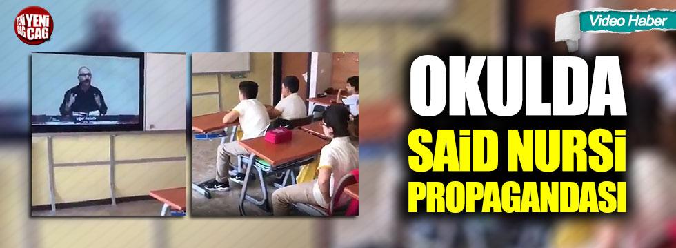 Okulda Said Nursi propagandası