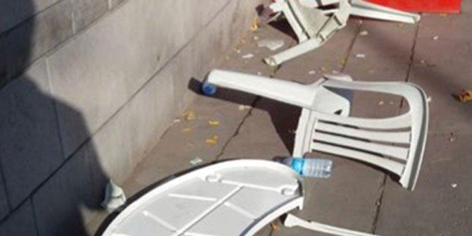 Ankara'da İYİ Parti'nin standına saldırı