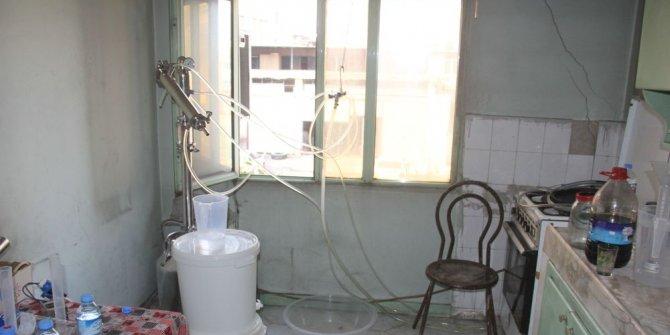 Süt sağma makinesiyle sahte rakı üretimi
