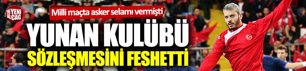 Yunan kulübü, asker selamı yüzünden milli oyuncunun sözleşmesini feshetti
