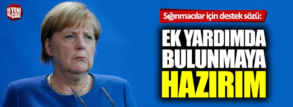 Merkel'den Türkiye'ye sığınmacılar için destek sözü