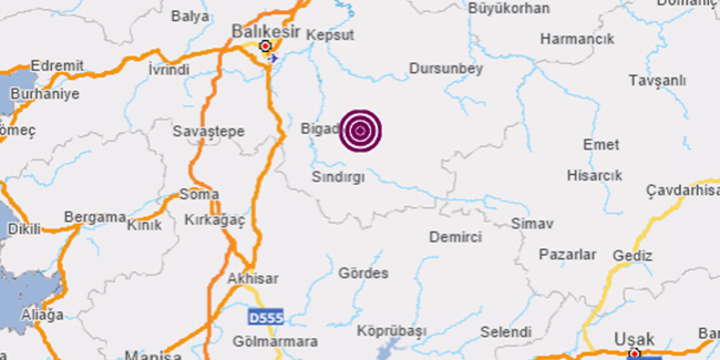 Son dakika: Balıkesir'de peş peşe depremler