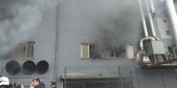 Kağıt fabrikasında korkutan yangın!