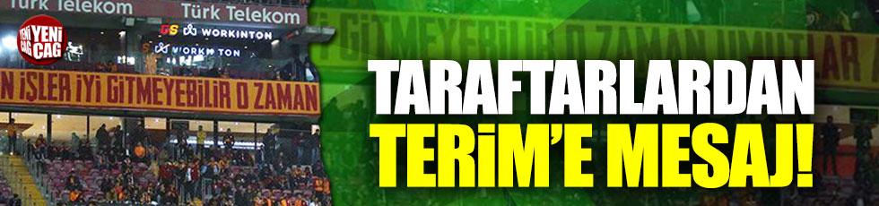 Galatasaray taraftarından Terim'e mesaj