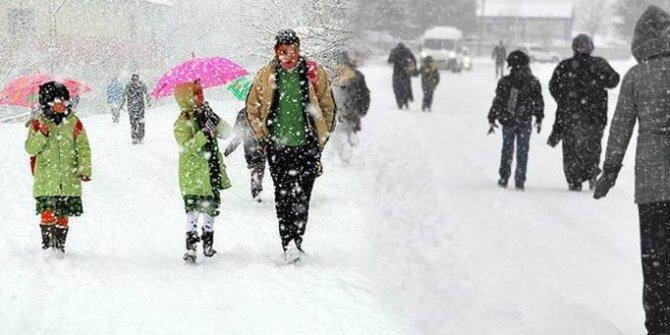 Kaymakamlıklar açıkladı! İki ilçede kar tatili