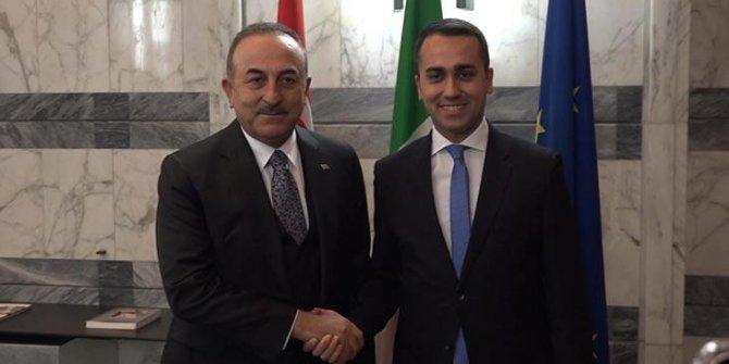Bakan Çavuşoğlu, İtalyan mevkidaşıyla görüştü