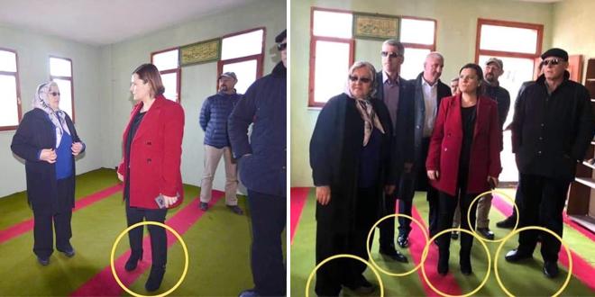 """AKP'li ismin """"Camiye ayakkabılarıyla girdiler"""" eleştirisi asılsız çıktı!"""