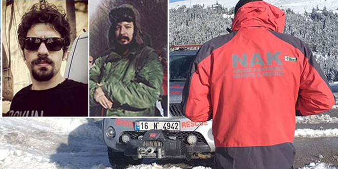 Uludağ'da kaybolan dağcıların izi bulundu