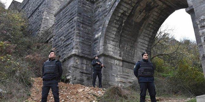 Tarihi kemere polis nöbeti