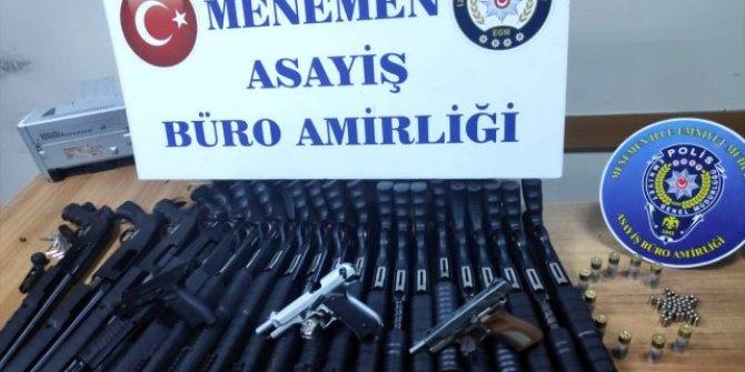 Silah kaçakçılığı operasyonu: 21 pompalı ele geçirildi