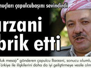 Barzani tebrik etti!