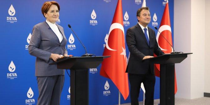 Akşener ve Babacan'dan ortak açıklama